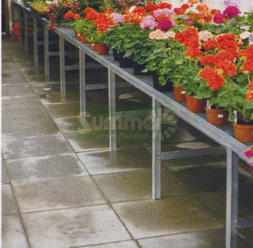 GREENHOUSES - Heavy duty aluminium 1 tier staging