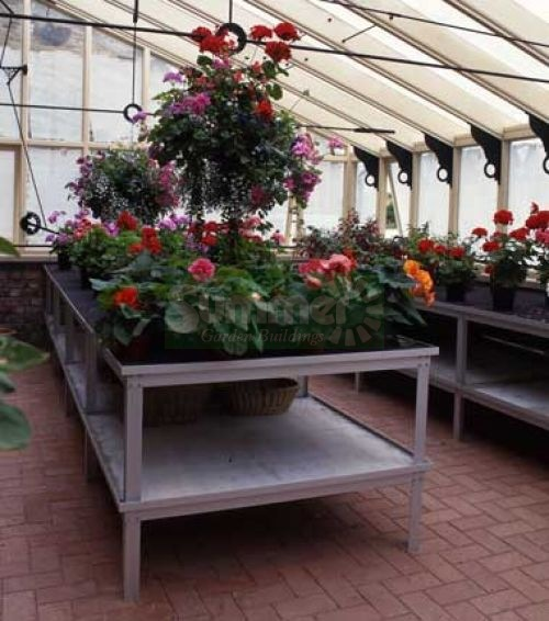 GREENHOUSES - Heavy duty aluminium 2 tier staging