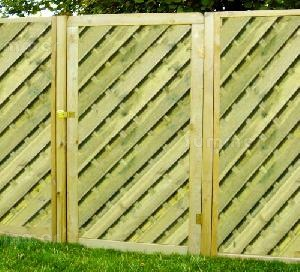 Single and double gates, pressure treated timber