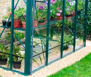GREENHOUSES - Aluminium staging, coloured finish