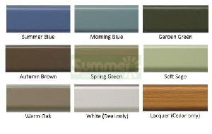 Paint finish - Full colour chart