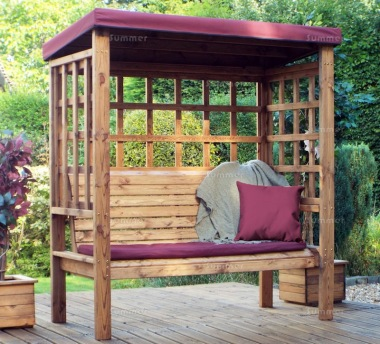 3 Seater Arbour 475 - Burgundy Canopy