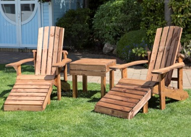 Adirondack Bistro Set 579 - Leg Rests, Coffee Table