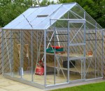 Grey Aluminium Greenhouse 19 - Extra Tall High Eaves