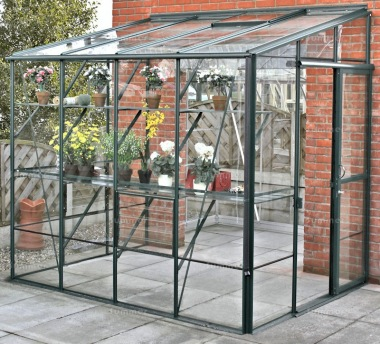 Aluminium Lean To Greenhouse 431 - Toughened Glass