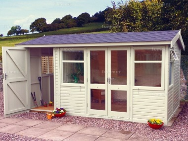 Side Door Apex Summerhouse 576 - Two Rooms, Double Glazed