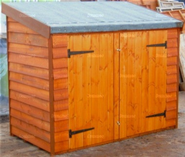 Shiplap Double Door Pent Roof Small Storage Shed 348