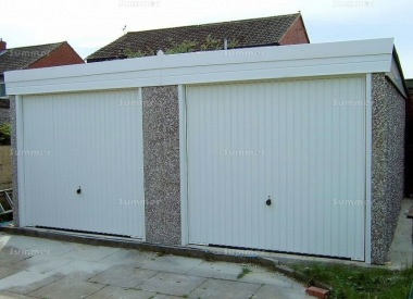 Spar Pent Double Concrete Garage 292 - PVCu Windows and Fascias