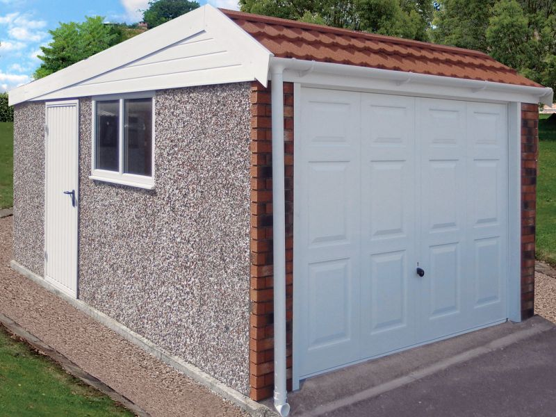 Spar Concrete Garage 644 - Brick & Tiled Front, Personnel Door