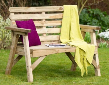 Pressure Treated Garden Bench 806 - Horizontal Slats