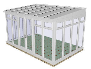 Lean to Conservatory 68 - PVCu, Fully Glazed