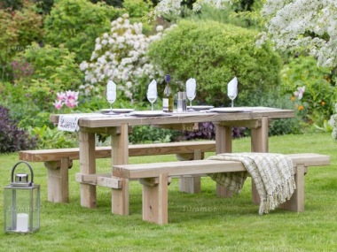 Pressure Treated 8 Seater Dining Set 874 - Benches