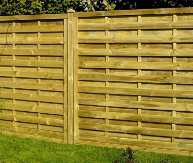 Fence Panel 414 - Planed Timber, 9mm Reeded Boards, 3x2 Frame