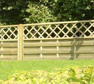 Fence Panel 432 - Planed Timber, 9mm Reeded Boards, 2x2 Frame