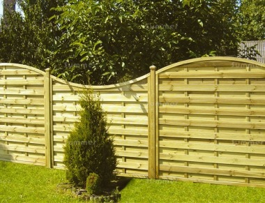 Fence Panel 440 - Planed Timber, 9mm Reeded Boards, 2x2 Frame