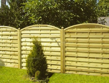 Fence Panel 441 - Planed Timber, 9mm Reeded Boards, 2x2 Frame