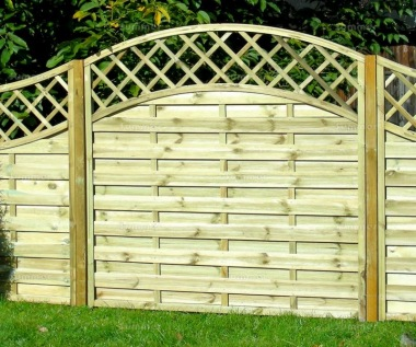 Fence Panel 451 - Planed Timber, 9mm Reeded Boards, 2x2 Frame