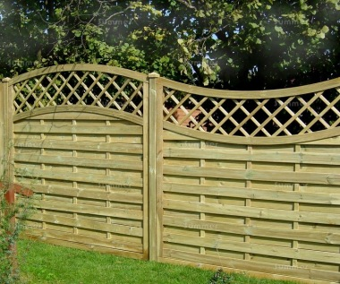 Fence Panel 455 - Planed Timber, 9mm Reeded Boards, 3x2 Frame