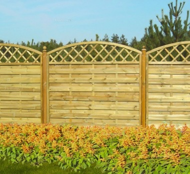 Fence Panel 467 - Planed Timber, 9mm Reeded Boards, 2x2 Frame