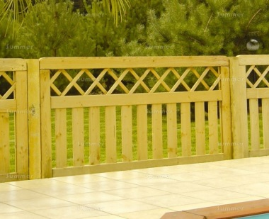 Fence Panel 473 - Planed Timber, 18mm Thick Boards, 4x2 Frame