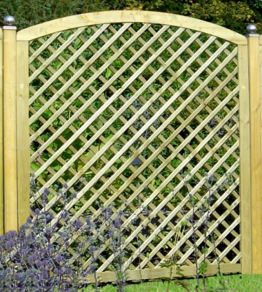 Fence Panel 563 - Planed Timber, 70x70mm Trellis, 4x2 Frame