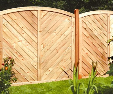 Fence Panel 579 - Larch, Planed, 18mm T and G Boards, 4x2 Frame