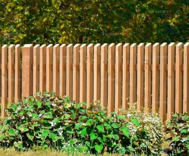 Fence Panel 615 - Larch, Planed, 35mm Thick Chamfered Pales