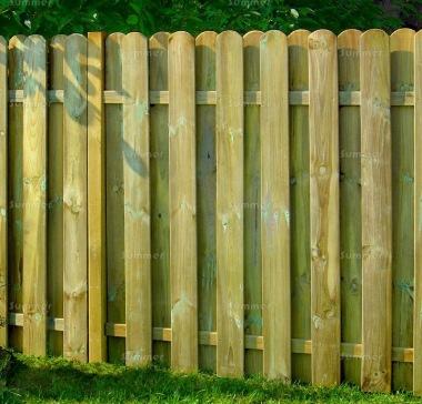 Fence Panel 620 - Planed Timber, 18mm Thick Boards, Double Sided
