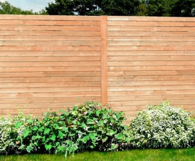Fence Panel 660 - Larch, Planed, 16mm Chamfered Boards