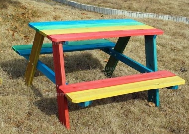 4 Seater Childrens Picnic Bench 193 - Painted Finish