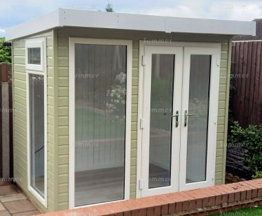Pent Garden Office 401 - Painted, Double Glazed PVCu