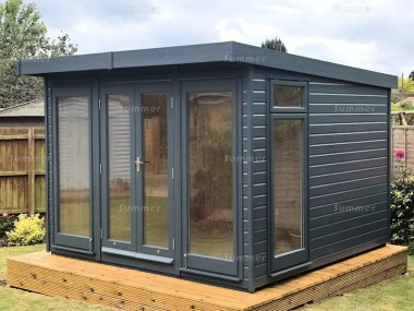 Pent Garden Office 441 - Painted, Double Glazed, Insulated