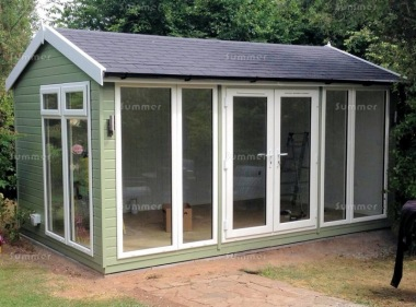Apex Garden Office 485 - Painted, Double Glazed, Insulated