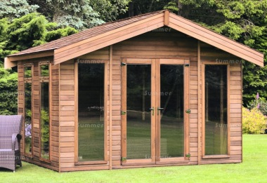 Apex Summerhouse 451 - Double Glazed, Low Level Glazing