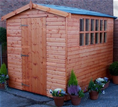 Apex Shed 101 - Georgian, T and G Floor and Roof