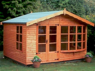 Apex Summerhouse 12 - Low Level Glazing, Double Door