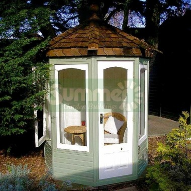 Octagonal Summerhouse 633 - Cedar, Painted