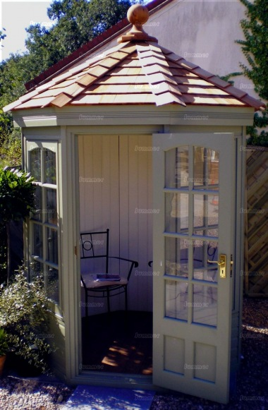 Georgian Octagonal Summerhouse 634 - Cedar, Painted
