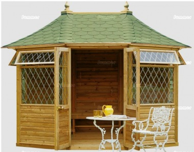 Leaded Octagonal Summerhouse 861 - Pressure Treated