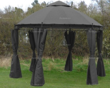 Metal Gazebo 183 - Round, Side Curtains