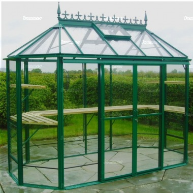 Aluminium Octagonal Greenhouse 603 - Toughened Glass