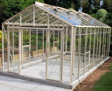 Aluminium Greenhouse 616 - Extra Tall, Double Door