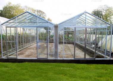 Large Twin Apex Greenhouse 625 - Box Section