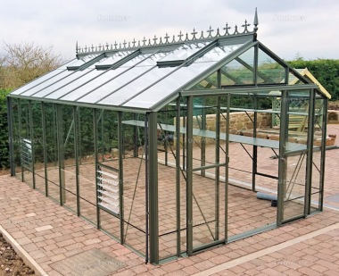 Large Aluminium Greenhouse 65 - Box Section, Double Door