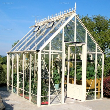 Aluminium Victorian Greenhouse 670 - Box Section, Toughened Glass