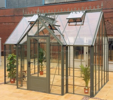 Large Aluminium Orangery 730 - Valley Roof, Box Section