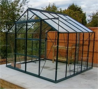 Aluminium Greenhouse 032 - Green, Base Included