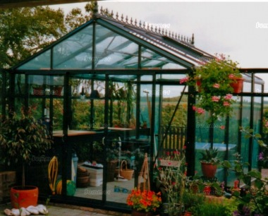 Large Aluminium Greenhouse 37 - Box Section, Toughened Glass