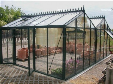 Large Twin Apex Greenhouse 372 - Box Section