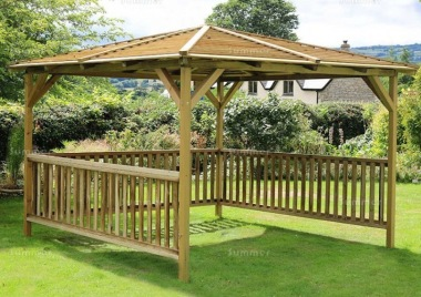 Pressure Treated Gazebo 956 - Hipped Roof